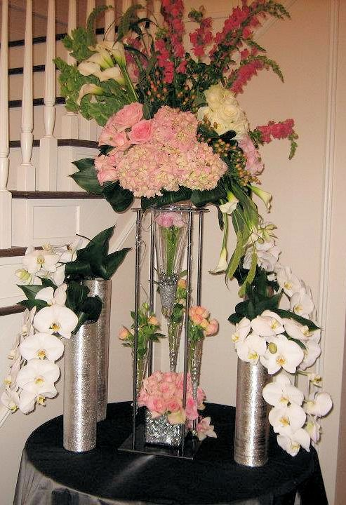 Silver Vases Weddings By Bakanas
